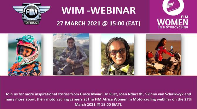 FIM AFRICA WIM WEBINAR – 27 MARCH @15:00 (EAT)