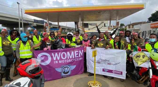 KENYAN WOMEN BIKERS CELEBRATE INTERNATIONAL  FEMALE RIDE DAY (IFRD)
