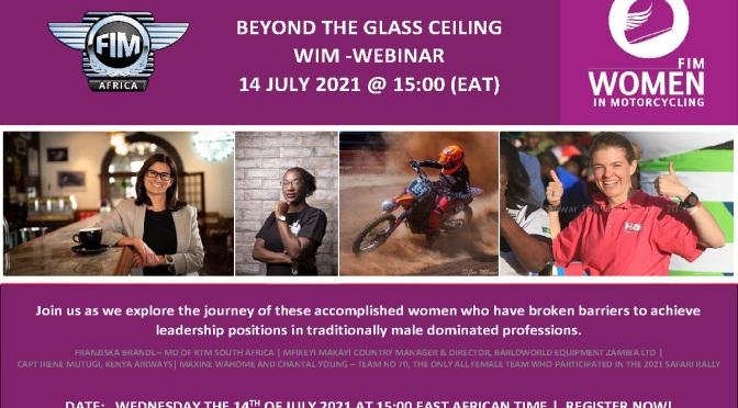 BEYOND THE GLASS CEILING WEBINAR – 14 JULY 2021 @ 15:00 (EAT)