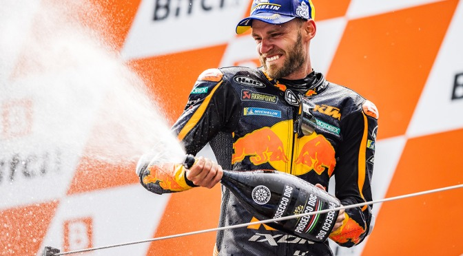 BRAD TAKES ASTONISHING VICTORY IN CRAZY CONDITIONS AT THE AUSTRIAN GP